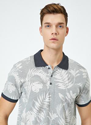 Koton Polo Yaka Desenli T-Shirt